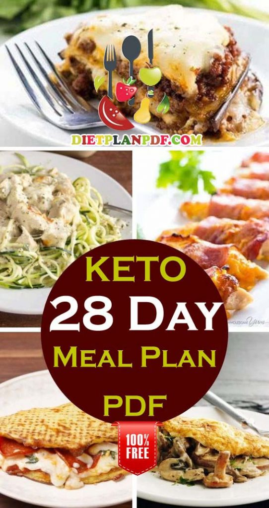 4 Day Diet Plans: Free 28 (4 Week) Day Keto Diet Weight Loss Meal Plan PDF