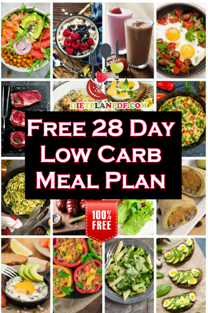 Free 28 Day (4 Week) Low Carb Diet Weight Loss Meal Plan ...