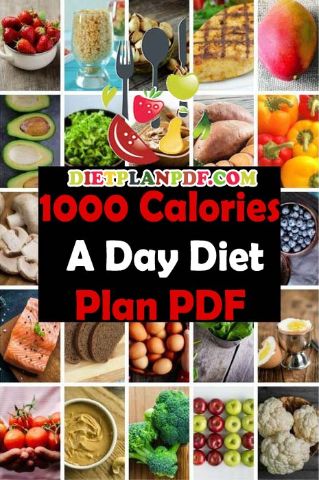1000 Calorie A Day Diet Meal Plan Pdf Diet Plan Pdf